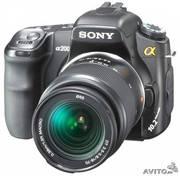 Продается зеркальный фотоаппарат Sony alpha200