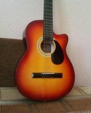Продам новую акустическую шестиструнную гитару, в отличном состоянии